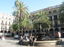 Left: A square of Los Ramblas. Right: I'm embarassed to say I forget where - there are so many beautiful places!